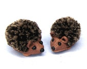 Dollhouse miniature Pair of hedgehogs - collectable handmade dolls house animals or toys