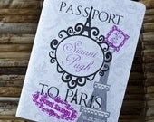 Passport Invitation Design Fee (Sweet Sixteen Paris-Themed Design)