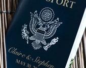 Passport Wedding Invitation Design Fee (US Traditional Emblem Design)