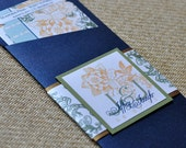 Boarding Pass Invitation or Save the Date Design Fee (Floral Design)