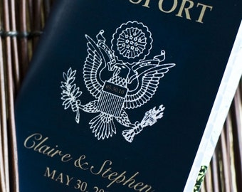 Save the Date Wedding Passport Design Fee (Traditional US Emblem)