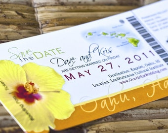 Custom Passport Boarding Pass and Wedding by SproullieDesigns