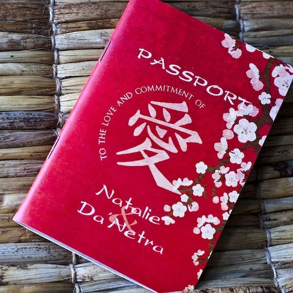 Passport Wedding Invitation Design Fee (Cherry Blossom Design)