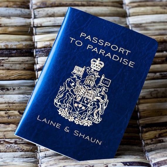 Passport Wedding Invitation Design Fee Canadian Traditional