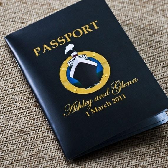 Passport Wedding Invitation Design Fee  (Cruise Ship Wedding)