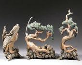 Bonsai Inspired Vases, group of 3, 11 July 8