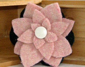 Upcycled Felted Wool Brooch Free Shipping USA