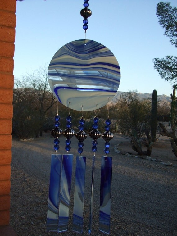 Free shipping...Ocean Surf Wind Chime Suncatcher Extra Large