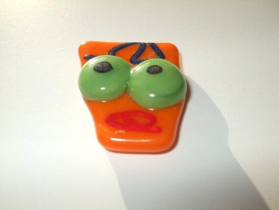 Orange Head Monster Magnet