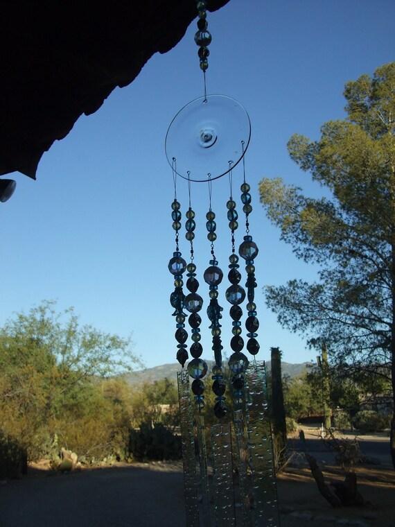 Free Shipping..Windchime Fish Suncatcher Stained Glass