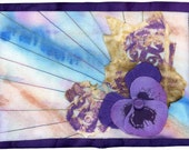 Pansy Passion - quilted postcard