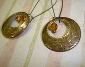 Elegant Brass with Amber Drops
