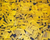 100 1/4 Inch Pineapple Yellow Border Tumbled Stained Glass Mosaic Tiles