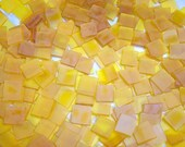100 1/2 Inch Butterscotch Tumbled Stained Glass Mosaic Tiles
