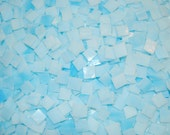100 1/2 Inch Cloud Blue Tumbled Stained Glass Mosaic Tiles