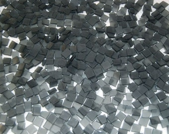 Mini Frosted Gray Tumbled Stained Glass Mosaic Tiles