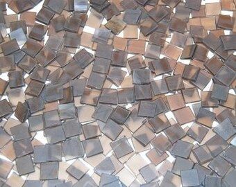 100 1\/2 Inch Nutmeg Brown Tumbled Stained Glass Mosaic Tiles