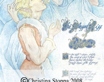 The Blessed Kiss of Winter - Original Matted Artwork by Christina Stoppa
