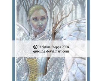 Lady Winter - Original Art Print by Christina Stoppa