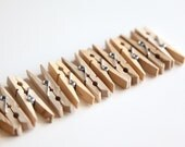 One Dozen (12) Small Wood Clothespins