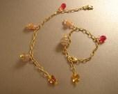 Golden Bracelet--Pink--HOLD FOR ABBY352