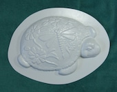 Fancy Turtle Plastic Craft Mold for Use with Cement and Plaster