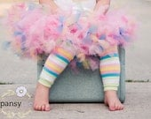 Birthday Colorful Striped Legwarmers Baby Toddler Kids Legwarmers