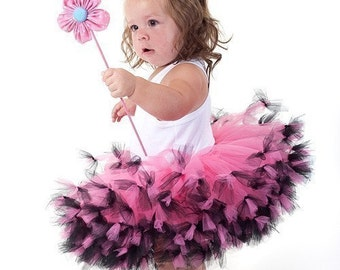 Hot Pink And Black Tutu Pink And Black Pettiskirt Toddler Tutu Dress Toddler Petti Dress 2T 3T 4T