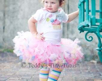 Birthday Tutu Set Toddler Birthday Girl Outfits Birthday Pettiskirt Outfit Toddler Cupcake Dress 2t 3t 4t