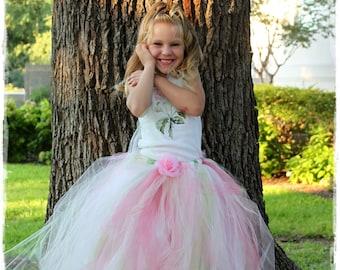 Long Tutu Skirt Flower Girl Dress Long Tutu Floor Length Flower Girl Dress Pageant Tutu Dress 2 4 Year