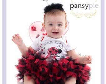 Baby Ladybug Tutu Set 1st Birthday Ladybug Tutu 1st Birthday Ladybug Outfit 9 12 18 Months