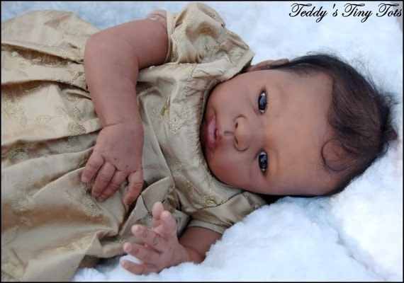 Reborning New Aa African American Reborn Doll Painting