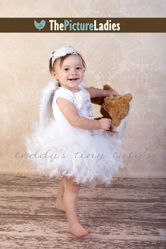 Baby Angel Wings Petti Tutu Outfit 2t 3t 4t 5 or 6 Years