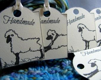 Sheep HangTags, Tags for Handmade Items, Set of 16