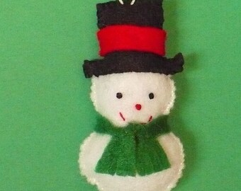 Miniature Snowman Ornament