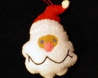 Miniature Santa Face Ornament