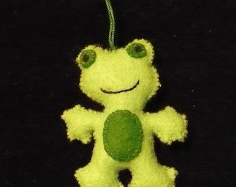Miniature Green Frog Ornament