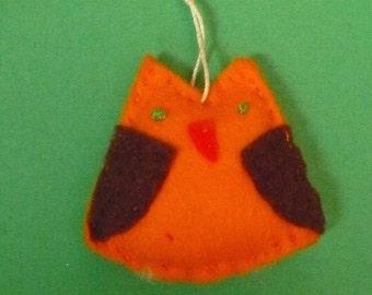 Miniature Felt Owl