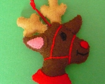 Rudolph Miniature Felt Ornament