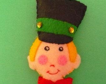 Miniature Felt Toy Soldier Ornament
