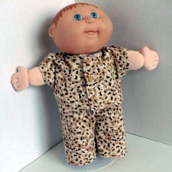 Camouflage Flannel Pajamas for the 10 inch TEENY TINY PREEMIE Cabbage Patch Doll