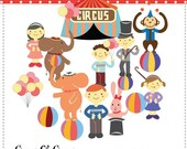 Circus oh Circus --- Digital Clip Art for wedding invitations, baby shower, cards and more
