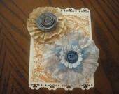Vintage flower embellishment