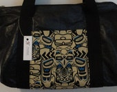 Tiki - Black Leather Purse
