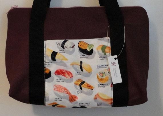 Sushi - Purple Leather Purse