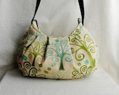 Pleated Bag - Allover Trees in Parchment - Last One