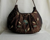 Pleated Bag - Lorena Chocolate - Last One