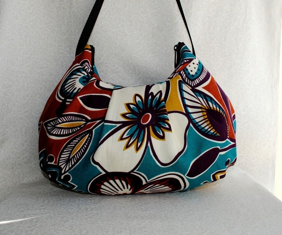 Pleated Bag - Exotic Garden