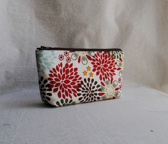Flat Bottom Cosmetic Pouch (Padded) - Kennedy Floral