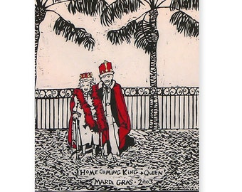 The Homecoming (original woodblock print)